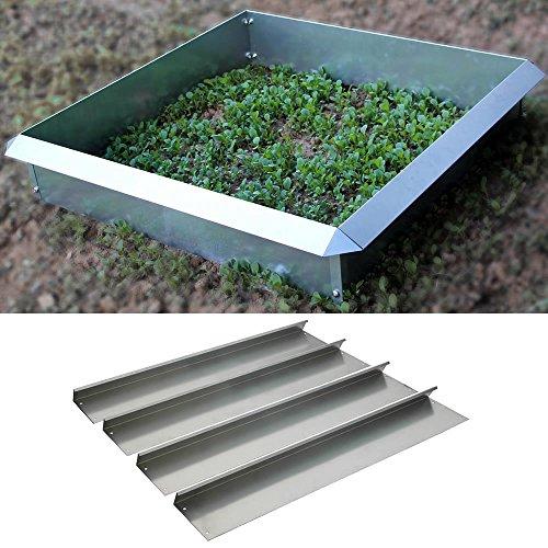 4 x 100x20CM Schneckenzaun Schneckenschutz Schneckensperre Rasenkante Set Metall