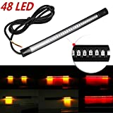 Motoway Flexible 48 LED Strip DRL Tail Brake Turn Signal Red & amber For For Royal Enfield Twin Spark
