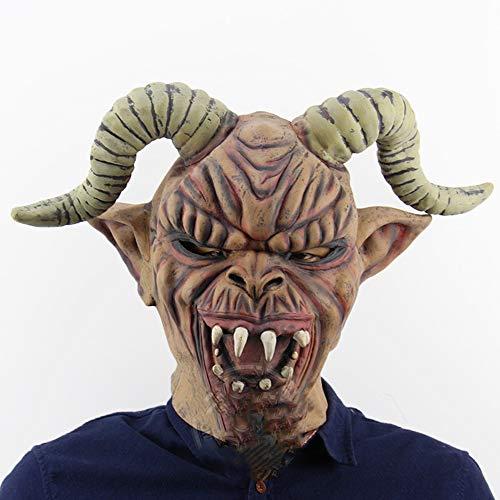 Halloween Sheep Horn Warcraft Ghost Bar Masquerade Requisiten Horror Ghost Kopf Tiermaske