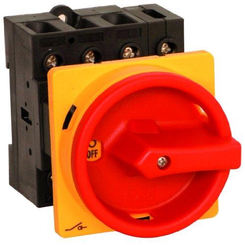 Hauptschalter 32A 3-polig Einbauversion, Frontbefestigung, Lasttrennschalter, Not-Aus-Schalter, JS3P32A-E