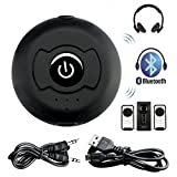Enjoydeal Bluetooth Transmitter and Spiltter Bluetooth 4.0 A2DP Portable Audio stereo Support Two Devices Simultaneously for Tv Pc Cd Player Ipod Kindle Fire Mp3/mp4 Etc