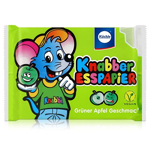 Küchle Knabber Esspapier grün Grüner Apfel Geschmack 25g Essoblaten -