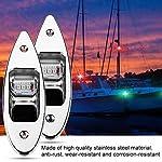Fydun 12V LED Flush Mount Side Bow Navigation Signal Light 2Pcs 120° Lamp for Marine Boat Yacht Green 61.5lm&Red 19lm 11