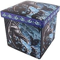 Age Of Dragons Caja de Almacenamiento Diseño Rock Dragon (Talla Única/Azul)