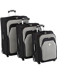 U-Travel Voyage Juego de maletas, Gris y Negro