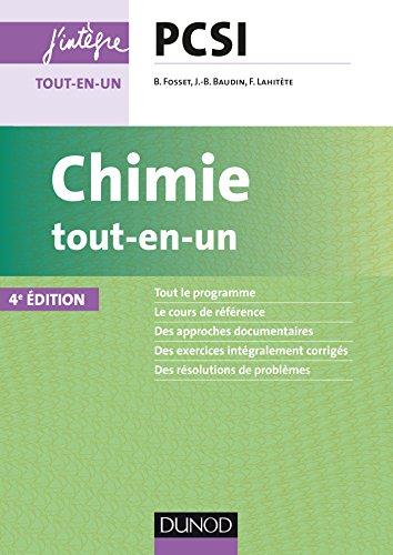 Chimie tout-en-un PCSI - 4e éd.