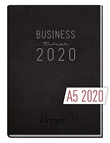 Chäff Business-Timer 2020 A5 schwarz, 12 Monate | 1 Woche 2 Seiten | Wochenplaner, Wochenkalender, Organizer | Terminkalender für perfektes Zeitmanagement im Beruf und Alltag