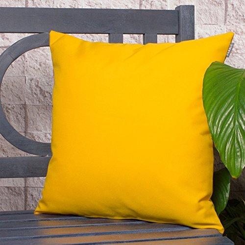Bean Bag Bazaar Outdoor Wasserdicht polsterfüllung Garten Kissen für Stühle/Sitze und Bänke–Gelb (Wasserdichte Outdoor Patio Kissen)