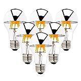 6er-Pack LED Birne verspiegelt Edison Glühbirne A60 8W 220V E27 Kopfspiegellampe Warmweiß (2700 Kelvin) Nitch Dimmerbar Spiegelkopf