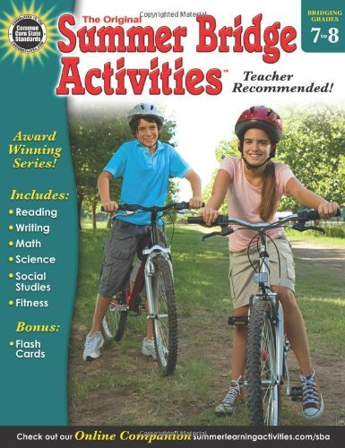 Summer Bridge Activities(r), Grades 7 - 8 by Summer Bridge Activities (Compiler, Editor), Rainbow Bridge Publishing (Compiler) (2-Jan-2013) Paperback
