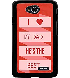 ColourCraft Quote Design Back Case Cover for LG L70