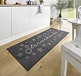 Küchenläufer Küchenmatte Läufer Küchenteppich Sterneküche Grau KL-6