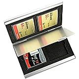 Foto & Tech en aluminium Housse de transport 4Fentes pour carte Compact Flash carte mémoire Lexar SanDisk Kingston Sony
