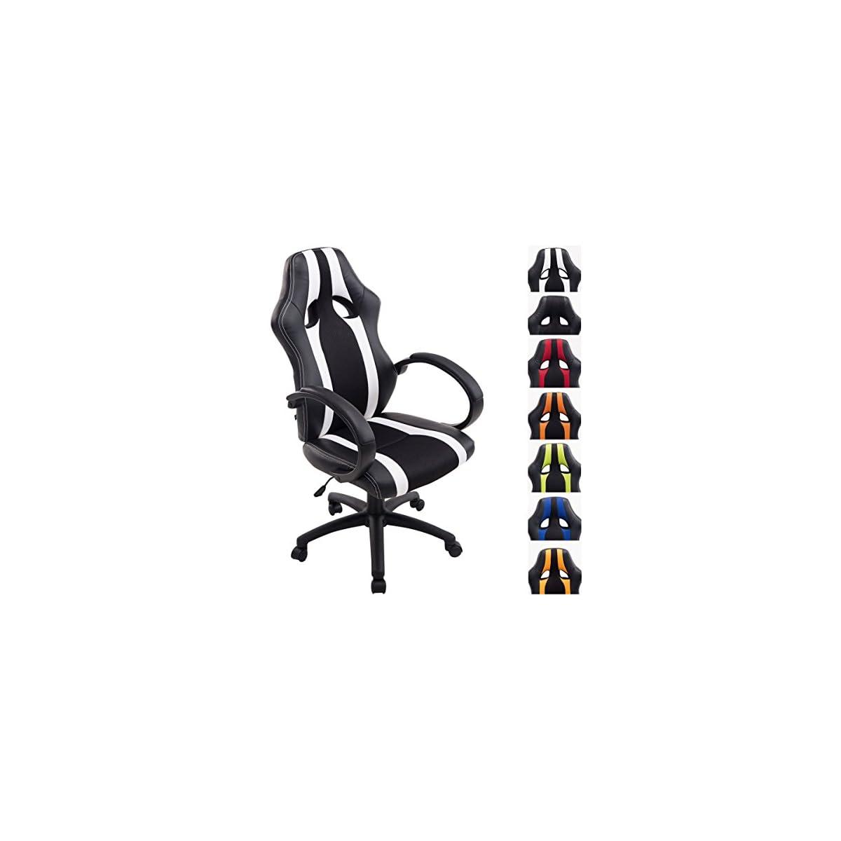 51ppNpI3ULL. SS1200  - CLP Silla Racing Vettel en Cuero Sintético & Tela en Red I Silla Gamer Ergonómica & con Respaldo I Silla de Oficina con Ruedas I Color:
