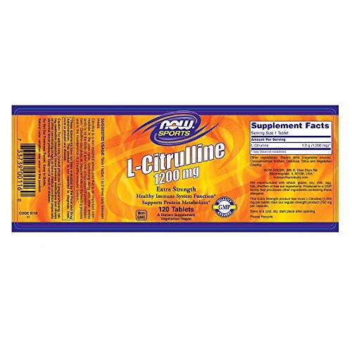 Now Foods Citrulline Line 1200mg 240Standard–120Tablets