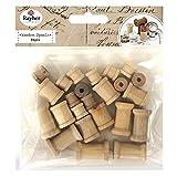Bobinas de madera claro–3tamaños–24piezas–RAYHER