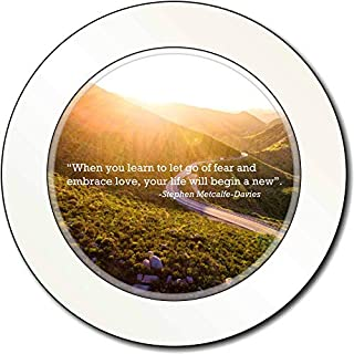 Sentiments From The Soul Let Go of Fear Quote Car/Van Permit Holder/Tax Disc Gift