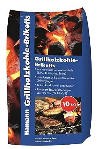 Grillholzkohle-Briketts 10 kg Grillkohle aus Laubholz Holzkohle Kohle