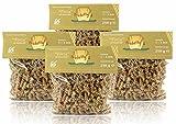 Nudelly's Quattro Forza glutenfreie Pasta im 4er-Pack, Sesammehl, Eier-Nudeln mit Tapioka-Stärke als Fusilli, low-carb, paleo, clean, sojafrei