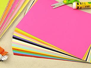 AND-Generic Premium Pack of 100 Sheets Smooth Finish A4 Size Assorted Colors Copy Copier Printing Papers - Home, School, Office Stationery