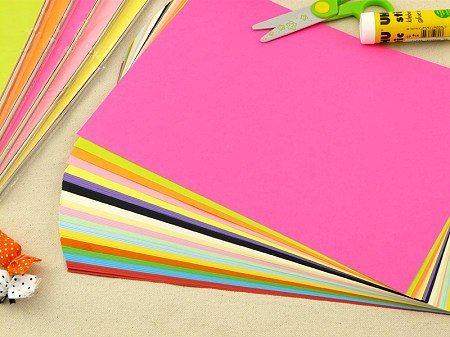 AND-Generic Premium Pack of 100 Sheets Smooth Finish A4 Size Assorted Colors...