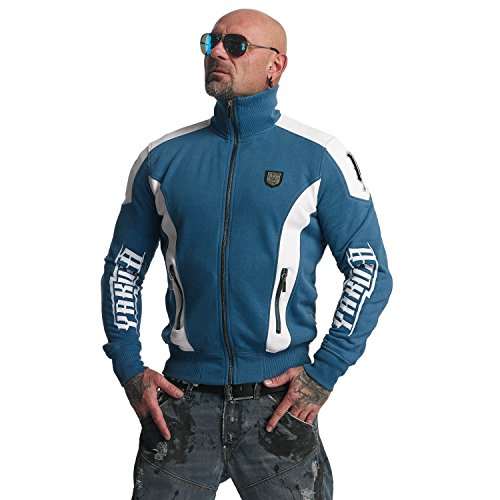 Yakuza Original Herren Skull Trainingsjacke Zipper (Slim-fit-grafik)