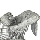 AILHL Protection Caddie Chariot pour Bébé Coussin pour Chaise Haute avec Ceinture Bébé Supermarché Shopping Trolley Protège Siège Housse de Coussins Panier avec Sac Transport 120 x 70cm