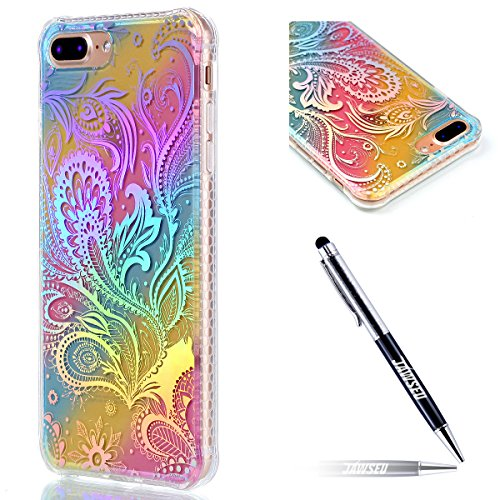 iPhone-7-Plus-Custodia-iPhone-7-Plus-55-Cover-JAWSEU-Shock-AbsorptionAnti-Scratch-Protezione-Bumper-per-iPhone-7-Plus-Cristallo-Trasparente-Custodia-Cover-Case-Caso-Bella-Luminoso-Ultra-Sottile-Legger