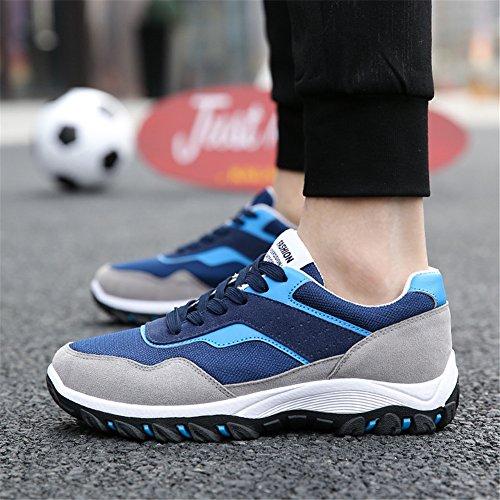 Juleya Uomo Scarpe Running Sportive Scarpe Corsa Sneakers Fitness Interior Casual all'Aperto Blu