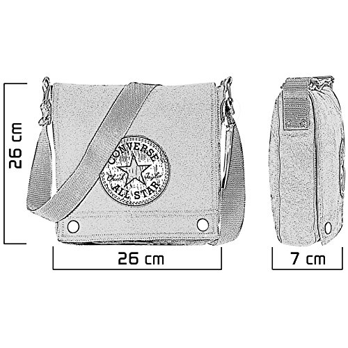 Converse Borsa Messenger Fortune Bag Vintage Patch,  grigio �?medium grey, 98305A-55 medium grey