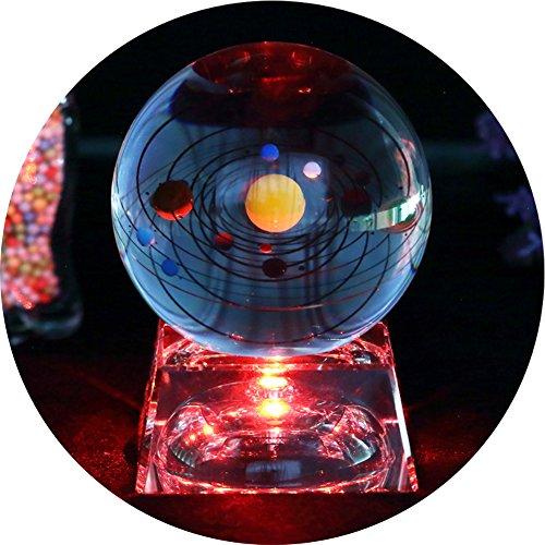 Solar Sistema bola cristal - bola de cristall Con la base de la lámpa