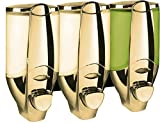 Goldener Dreifach Wand Seifenspender Shampoo Spender von Sanlingo
