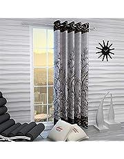 Home Sizzler Garden Panel Floral Eyelet Polyester Long Door Curtain