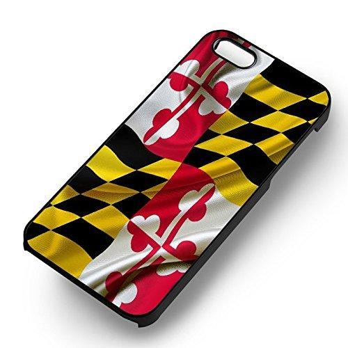 Maryland Flag Für Iphone 6 und Iphone 6s Hülle (Schwarzen Hartplastik Hülle) R6Y0UF