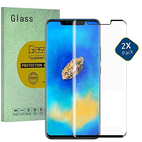 peças huuh [2 20 Huawei mate Pro protetor de tela de vidro temperado, 5D arco, espessura: 0,33 mm, dureza 9H, elevada transparência, anti-impressão digital, oleofóbico O efeito é bom (preto)