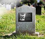 Gedenktafel mit Foto Grabstein Gedenkstein mit Gravur ( NEU !! auch mit Motiven ) ca. 30 x 20 cm für Tiere / Hund Katze Pferd mit Foto- und Textgravur – kein Druck schönes Andenken an die Liebsten /schöne Grabplatte - 8