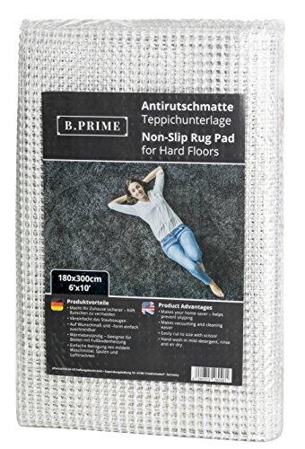 B.PRIME 180x300cm Antirutschmatte I Teppichunterlage I Teppichunterleger I Teppichunterlage I Rutschschutz für Teppich