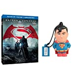Batman V Superman: Dawn of Justice (Blu-Ray + Blu-ray 3D) + Chiavetta Tribe DC Comics Superman USB Stick 8GB