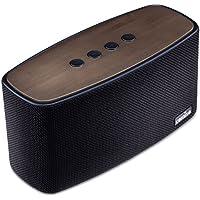 Altoparlante Bluetooth 30W COMISO [Nature Audio] [Nero] con Bassi Potenti, Fatto a mano Bamboo Casa Speaker Bluetooth Stereo Senza Fili (subwoofer, Radiatore Passivo, A2DP, Audio ad Alta Definizione, Microfono Integrato) per iPhone, iPad, Huawei, LG, HTC, Tablet, ecc - 3 Hp Diffusore