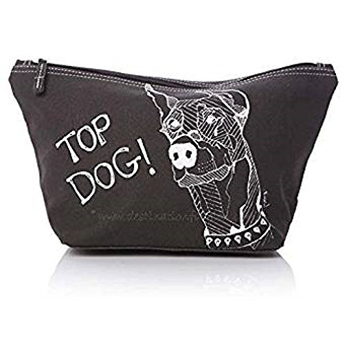 Casey Rogers Large Herren Black Wash Bag - Top Dog. -