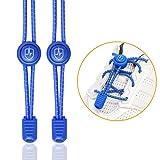 High Pulse Schnellschnürsystem – EIN Paar elastische Schnürsenkel mit Schnellverschluss für einen perfekten Sitz und sicheren Halt (Blau)