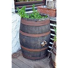 Kräuterbeet, Kräuterfass, Weinfass, Holzfass rustikal aus Eichenholz (Fass rustikal natur unbehandelt)