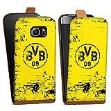 DeinDesign Samsung Galaxy S6 Tasche braun Hülle Flip Case karamell Borussia Dortmund BVB Fanartikel