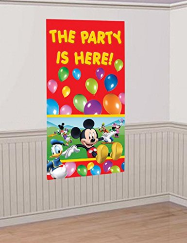 Procos-84656-Door-Decoration--Mickey-Mouse-Club-House-150-x-75-cm-Multi-Coloured