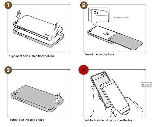 Vandot Apple iphone 7 Étui Exclusif Design Coque détachable Air Plastique Dure de PC Retour Bumper Case Cover Ultra Slim Thin 0,9 mm Matte Building Pratiques de Protection Haut de Gamme Pattern Housse miroir design-Noir