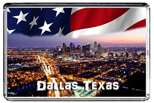 Preisvergleich Produktbild USA E327 Dallas Texas KÜHLSCHRANKMAGNET Travel Photo Refrigerator Magnet