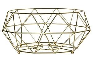 Premier Housewares Vertex–placcato oro, metallo, Gold, 32 x 32 x 15 cm