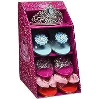 Girls Pink Pretty Princess Shoes Diamante Dress Up Fancy Gift Set (Set of 3 Shoes & Blue Tiara) by pretty princess