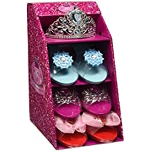 Girls Pink Pretty Princess Shoes Diamante Dress Up Fancy Gift Set (Set of 3 Shoes & Blue Tiara) by pretty princess