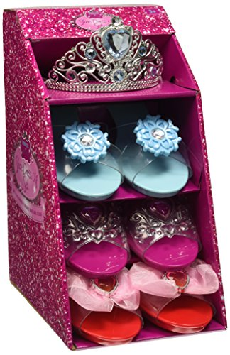 girls-pink-pretty-princess-shoes-diamante-dress-up-fancy-gift-set-set-of-3-shoes-blue-tiara